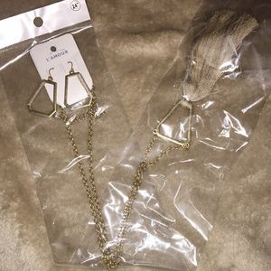 Long Earring and Necklace Set